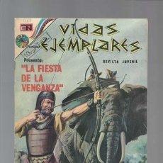 Giornalini: VIDAS EJEMPLARES 407: LA FIESTA DE LA VENGANZA, 1973, NOVARO, MUY BUEN ESTADO. Lote 128948411