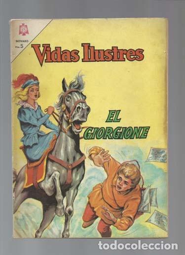 VIDAS ILUSTRES 114: EL GIORGIONE, 1965, NOVARO, BUEN ESTADO (Tebeos y Comics - Novaro - Vidas ilustres)