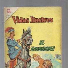 Tebeos: VIDAS ILUSTRES 114: EL GIORGIONE, 1965, NOVARO, BUEN ESTADO. Lote 128950587
