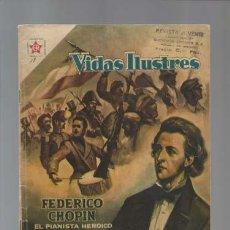 Tebeos: VIDAS ILUSTRES 18: FEDERICO CHOPIN, EL PIANISTA HEROICO, 1957, NOVARO, BUEN ESTADO. Lote 128951023