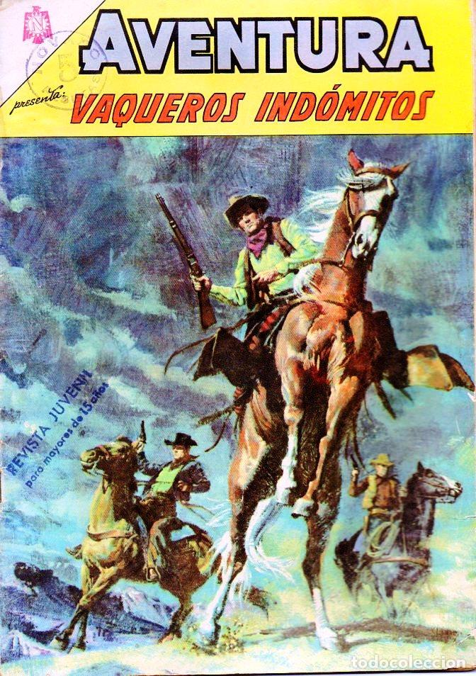 AVENTURA VAQUEROS INDÓMITOS Nº 446 (Tebeos y Comics - Novaro - Aventura)