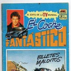 BDs: DAVID HASSELHOFF MICHAEL KNIGHT EL COCHE FANTASTICO # 1 MC EDICIONES 1982 RICHARD BASEHART APRIL 34P. Lote 129332867