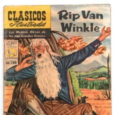 Tebeos: CLASICOS ILUSTRADOS # 100 RIP VAN WINKLE LA PRENSA 1960 ICHABOD CRANE WASHINGTON IRVING EXCELENTE. Lote 129396691