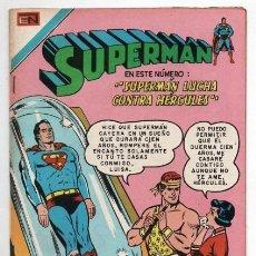 Tebeos: SUPERMAN # 6 NOVARO SERIE AVESTRUZ 1975 ACTION COMICS # 268 AÑO 1960 VS HERCULES IMPECABLE ESTADO. Lote 129432751