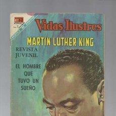 Tebeos: VIDAS ILUSTRES ESPECIAL 15 DE JUNIO DE 1968: MARTIN LUTHER KING,, NOVARO, BUEN ESTADO. Lote 129484611