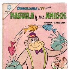 BDs: MAGUILA Y SUS AMIGOS. CHIQUILLADAS EN TV. HANNA-BARBERA. Nº185. 15 DE JUNIO DE 1966. Lote 130320719