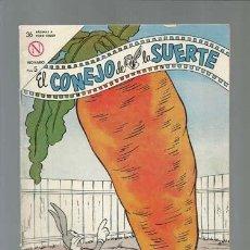 Tebeos: EL CONEJO DE LA SUERTE 187, 1964, NOVARO, BUEN ESTADO. Lote 148587426