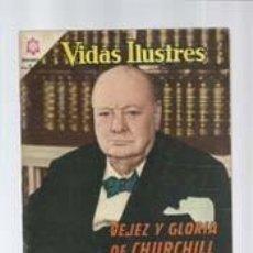 Tebeos: VIDAS ILUSTRES 113: VEJEZ Y GLORIA DE CHURCHILL, 1965, NOVARO, MUY BUEN ESTADO. Lote 130351078