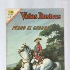 Tebeos: VIDAS ILUSTRES 163: PEDRO EL GRANDE, 1967, NOVARO, MUY BUEN ESTADO. Lote 130351466