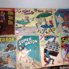 Tebeos: LOTE VARIOS NOVARO , RIN TIN TIN , SUPERMAN,TOM Y JERRY, TUROK, LA ZORRA Y EL CUERVO , SUPER RATON. Lote 130590766