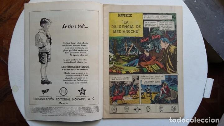 Tebeos: Aventura n° 207 - Maverick - original editorial Novaro - Foto 2 - 130633598