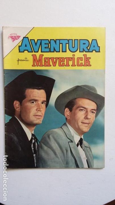 AVENTURA N° 207 - MAVERICK - ORIGINAL EDITORIAL NOVARO (Tebeos y Comics - Novaro - Aventura)