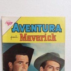 Tebeos: AVENTURA N° 207 - MAVERICK - ORIGINAL EDITORIAL NOVARO. Lote 130633598