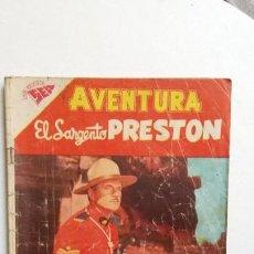 Tebeos: AVENTURA N° 84 - EL SARGENTO PRESTON - ORIGINAL EDITORIAL NOVARO. Lote 130634778