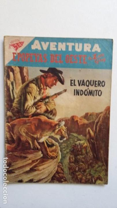 AVENTURA N° 77 - EPOPEYAS DEL OESTE POR ZANE GREY - ORIGINAL EDITORIAL NOVARO (Tebeos y Comics - Novaro - Aventura)