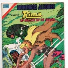 Tebeos: DOMINGOS ALEGRES # 1123 NOVARO AGUILA 1976 RIMA THE JUNGLE GIRL DC # 5 IMPECABLE SIN LECTURA. Lote 131076008
