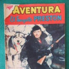 Tebeos: AVENTURA Nº 112 EL SARGENTO PRESTON EDITORIAL NOVARO. Lote 131181820