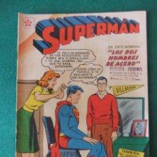 Tebeos: SUPERMAN Nº 176 LOS DOS HOMBRES DE ACERO NOVARO. Lote 131183128
