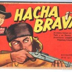 Tebeos: HACHA BRAVA # 16 TOMAJAUK MUCHNIK 1955 HOPALONG CASSIDY VIGILANTE VENADO OESTE RICK 66 P EXCELENTE. Lote 131994442