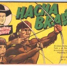 Tebeos: HACHA BRAVA # 17 TOMAJAUK MUCHNIK 1956 HOPALONG CASSIDY VIGILANTE VENADO OESTE RICK 66 P EXCELENTE. Lote 132045658