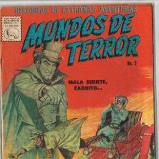 Tebeos: MUNDOS DE TERROR 3 1967 COMIC LA PRENSA TIPO NOVARO. Lote 132118610