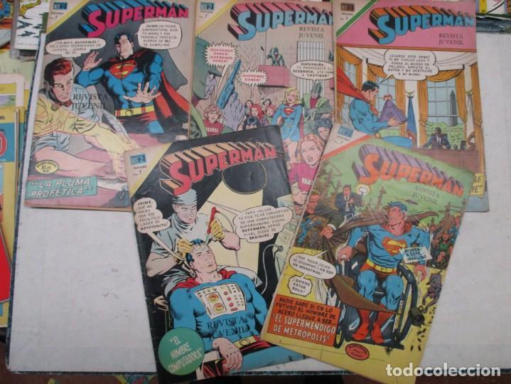 LOTE SUPERMAN 6 EJEMPLARES - NOVARO AÑOS 70 (Tebeos y Comics - Novaro - Superman)