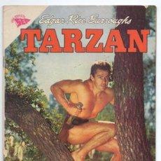 Tebeos: TARZAN # 91 NOVARO 1959 GORDON SCOTT EN TAPA BLANQUITA & NEGRITO LA LEONA EXCELENTE ESTADO. Lote 132775382