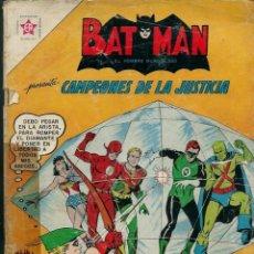 Tebeos: BATMAN Nº 144 - CAMPEONES DE LA JUSTICIA - PRESOS DENTRO DE UN DIAMANTE - ERSA NOVARO 1962, UNICO TC. Lote 133158390