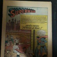 Tebeos: SUPERMAN # 1 NOVARO (PORTADA Y CONTRAPORTADA EN COPIAS). Lote 133318626