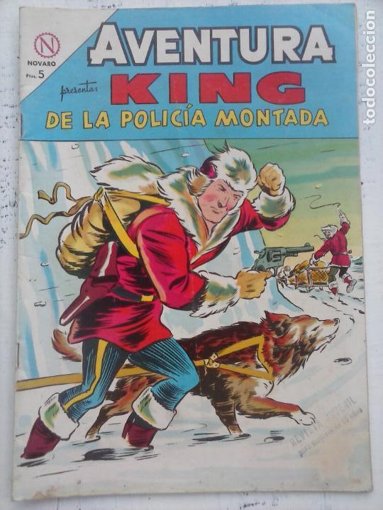 AVENTURA - KING DE LA POLICÍA MONTADA Nº 328 - NOVARO 1964 (Tebeos y Comics - Novaro - Aventura)