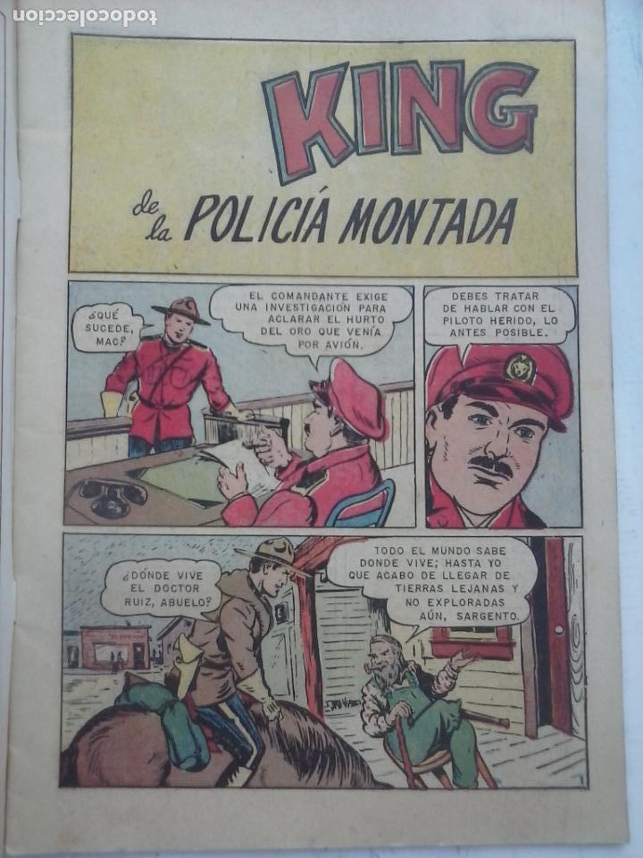 Tebeos: AVENTURA - KING DE LA POLICÍA MONTADA Nº 328 - NOVARO 1964 - Foto 2 - 133349158