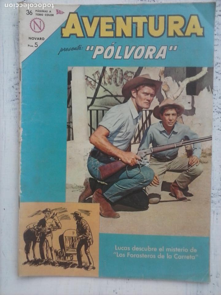 AVENTURA - PÓLVORA Nº 312 - NOVARO 1963 (Tebeos y Comics - Novaro - Aventura)