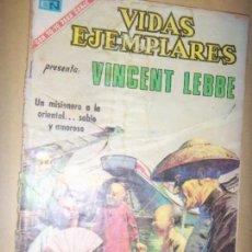 Tebeos: VIDAS EJEMPLARES N.341 PRES. VINCENT LEBBE. Lote 133779930