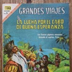 Tebeos: COMIC GRANDES VIAJES LA LUCHA POR EL CABO DE BUENA ESPERANZA 196. BUEN ESTADO. Lote 133804810