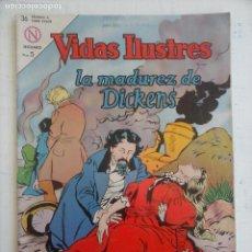 Tebeos: VIDAS EJEMPLARES Nº 98 - 1964 NOVARO - LA MADUREZ DE CARLOS DICKENS. Lote 134020470