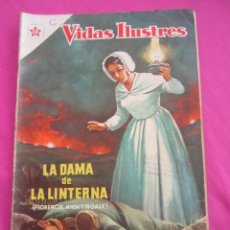 Tebeos: LA DAMA DE LA LINTERNA 29 VIDAS ILUSTRES AÑO 1958 NOVARO . Lote 134048010