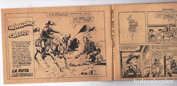 Tebeos: HACHA BRAVA # 27 TOMAJAUK FONTERIZOS WEST POINT MUCHNIK 1956 HOPALONG CASSIDY VIGILANTE 48 P EXCELEN - Foto 3 - 134057046