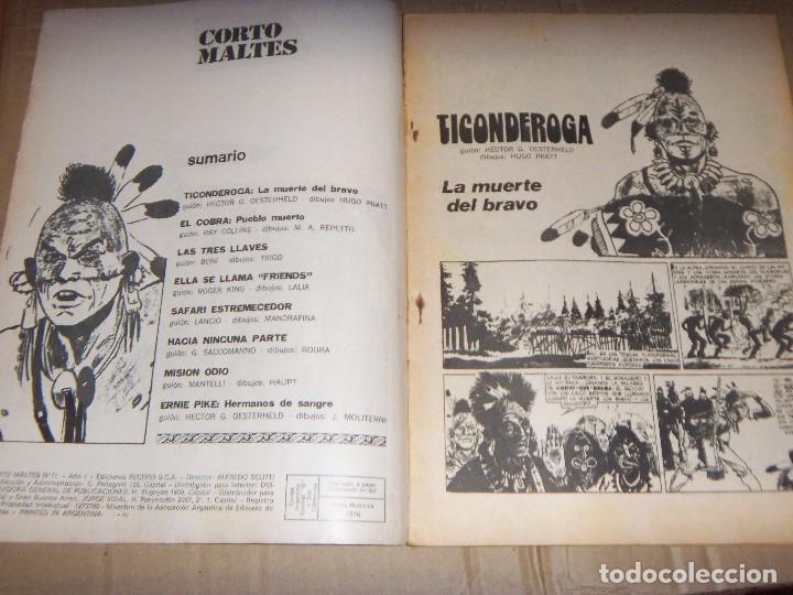 Tebeos: CORTO MALTES N.11 de HUGO PRATT-TICONDERONGA-AVENTURAS COMPLETAS GUION OESTERHELD edit. RECORD - Foto 2 - 134247314