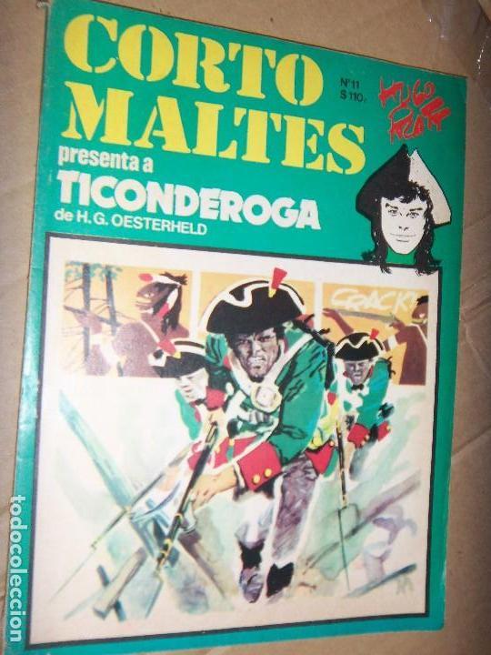CORTO MALTES N.11 DE HUGO PRATT-TICONDERONGA-AVENTURAS COMPLETAS GUION OESTERHELD EDIT. RECORD (Tebeos y Comics - Novaro - Sci-Fi)