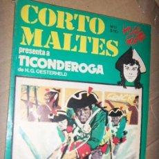 Tebeos: CORTO MALTES N.11 DE HUGO PRATT-TICONDERONGA-AVENTURAS COMPLETAS GUION OESTERHELD EDIT. RECORD. Lote 134247314