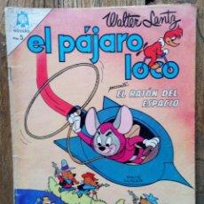 Tebeos: COMIC EL PAJARO LOCO ORIGINAL NOVARO Nº266EL RATÓN DEL ESPACIO 1965. Lote 134401994