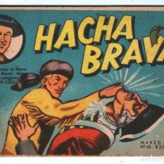 Tebeos: HACHA BRAVA # 43 TOMAJAUK SAFARI DE LA FRONTERA MUCHNIK 1958 HOPALONG CASSIDY VIGILANTE 48 P EXCELET. Lote 134875206