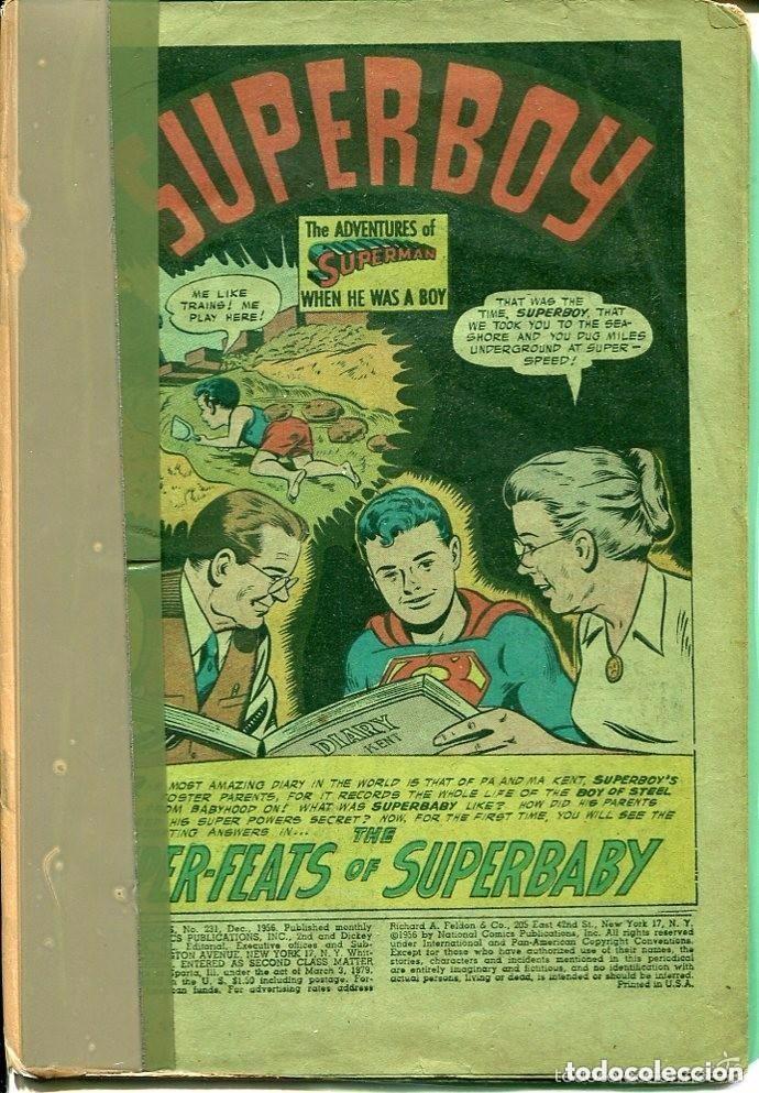 SUPERMAN-SUPERBOY-Nº 231-1956- PRINTED IN U.S.A (Tebeos y Comics - Novaro - Superman)