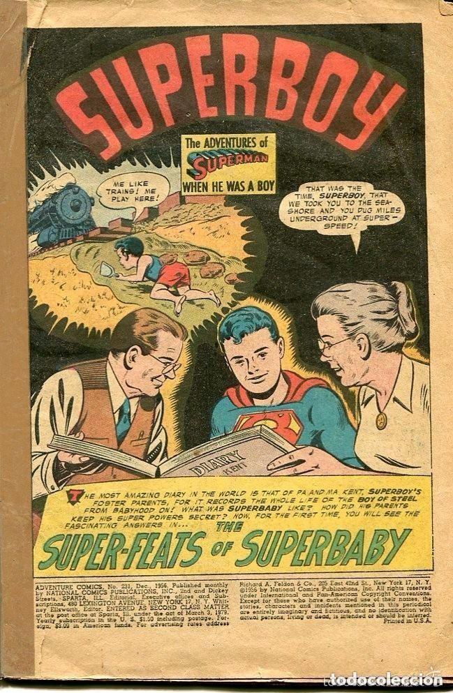 Tebeos: SUPERMAN-SUPERBOY-Nº 231-1956- PRINTED IN U.S.A - Foto 2 - 135175518