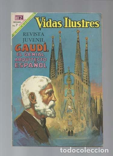 VIDAS ILUSTRES 209: GAUDI, EL GENIAL ARQUITECTO ESPAÑOL, 1969, NOVARO, MUY BUEN ESTADO (Tebeos y Comics - Novaro - Vidas ilustres)