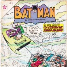 Tebeos: BATMAN, EDITORIAL NOVARO. Nº 92, AÑO 1961. LA GUARIDA DEL ZORRO MARINO.. Lote 135881162