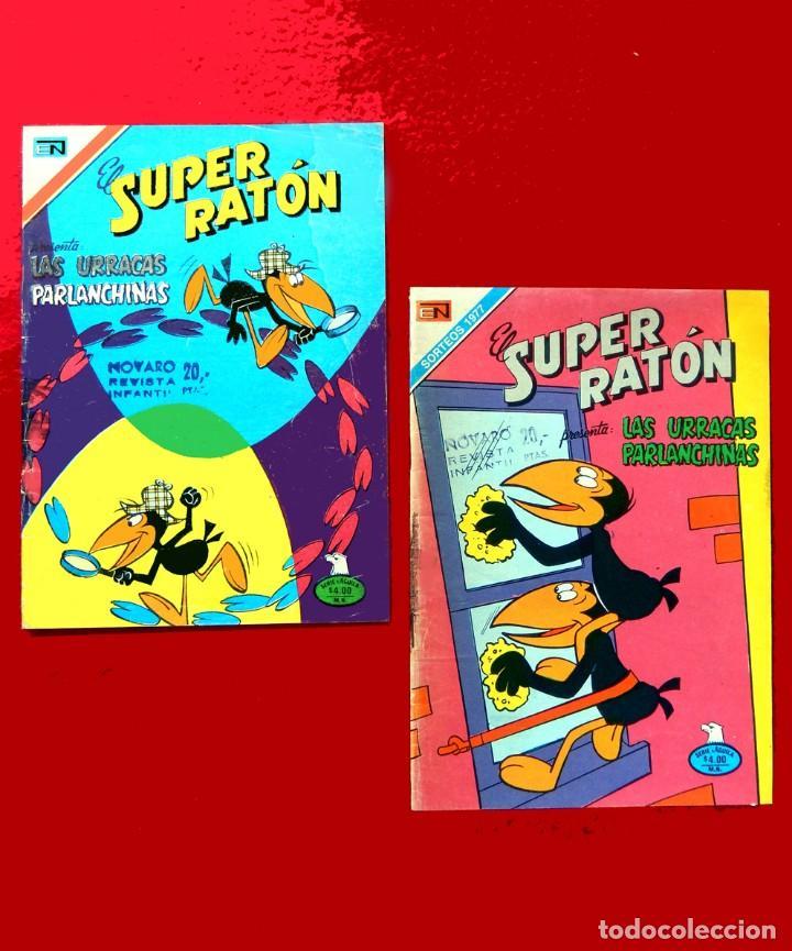 EL SUPER RATÓN, LOTE DOS COMICS; Nº 2-355 -1977 Y Nº 2-365 -1978, SERIE AGUILA, NOVARO, ORIGINALES. (Tebeos y Comics - Novaro - Otros)