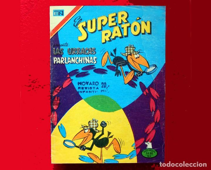Tebeos: EL SUPER RATÓN, LOTE DOS COMICS; Nº 2-355 -1977 Y Nº 2-365 -1978, SERIE AGUILA, NOVARO, ORIGINALES. - Foto 3 - 135946918