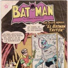 Tebeos: BATMAN, EDITORIAL NOVARO, Nº 61, AÑO 1959. EL BATMAN TRITÓN. BUEN ESTADO.. Lote 136236586