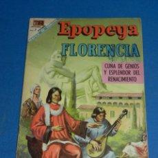Tebeos: (M7) EPOPEYA NUM 127 FLORENCIA , SEÑALES DE USO MARCAS DE BOLIGRAFO EN LA PORTADA. Lote 136552450